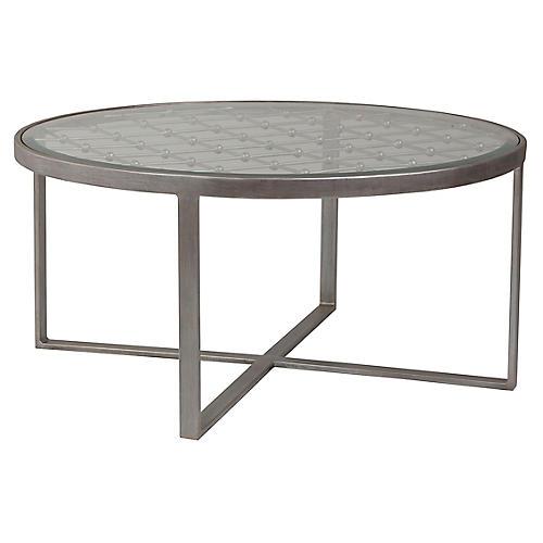 Royere Round Coffee Table, Argento