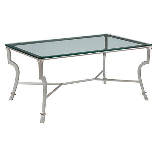 Syrah Coffee Table, Argento Silver