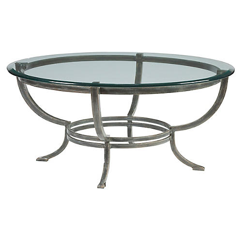 Andress Coffee Table, St. Laurent Iron