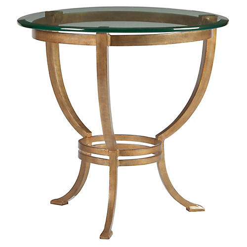 Andress Side Table, Renaissance Gold