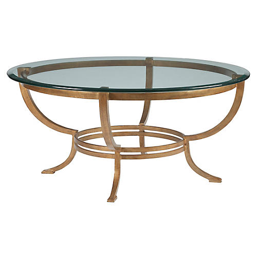 Andress Coffee Table, Renaissance Gold