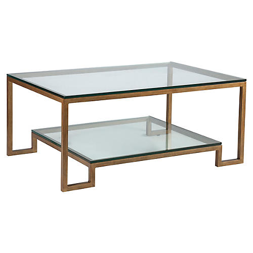 Bonaire Coffee Table, Renaissance Gold