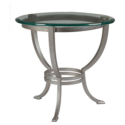 Andress Side Table, Argento Silver