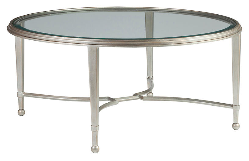 Sangiovese Round Coffee Table, Argento Silver