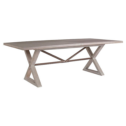 Ringo Extension Dining Table, Bianco White