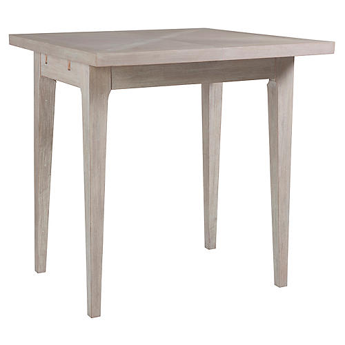Ringo Extension Bistro Table, Bianco White