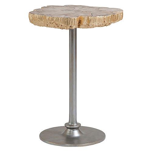 Speck Side Table, Gold Leaf