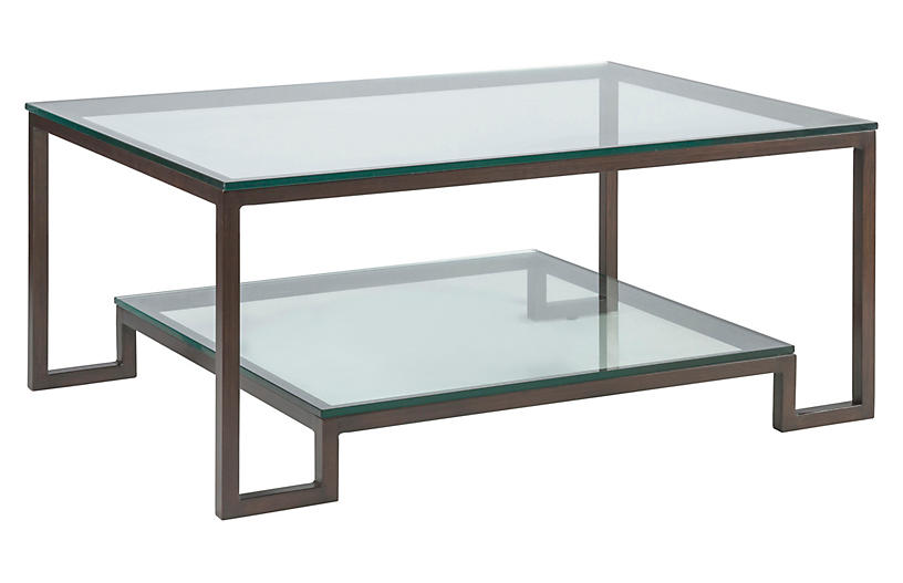 Bonaire Coffee Table, Antiqued Copper