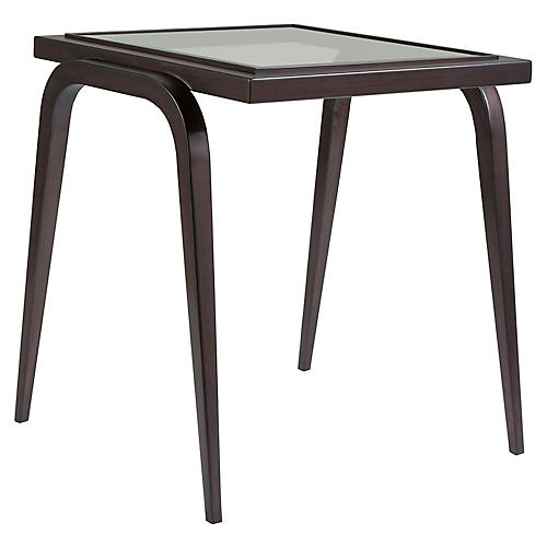 Mitchum Side Table, Antiqued Copper