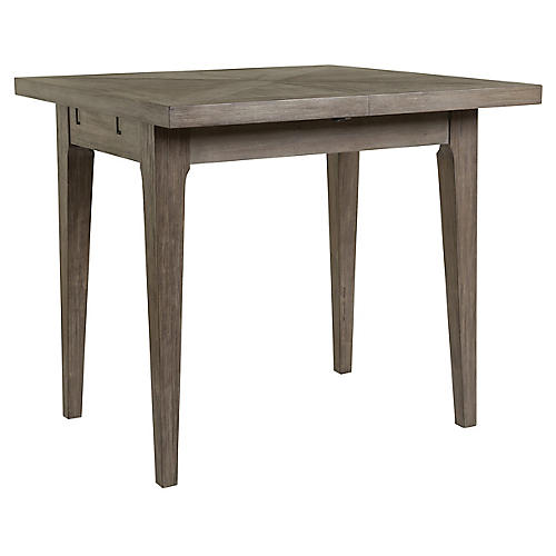 Ringo Extension Bistro Table, Grigio Warm Gray