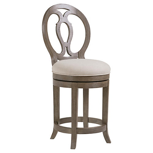 Axiom Swivel Counter Stool, Grigio Warm Gray