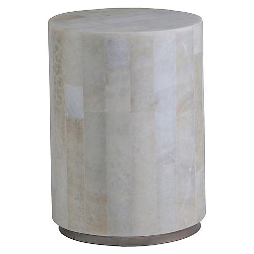 Greta Spot Side Table, White Onyx