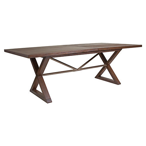 Ringo Extension Dining Table, Marrone Brown