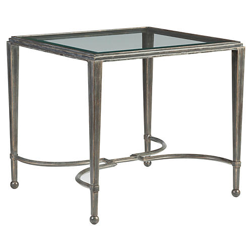 Sangiovese Side Table, St. Laurent Iron
