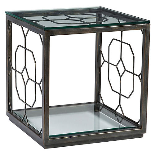 Honeycomb Side Table, St. Laurent Iron