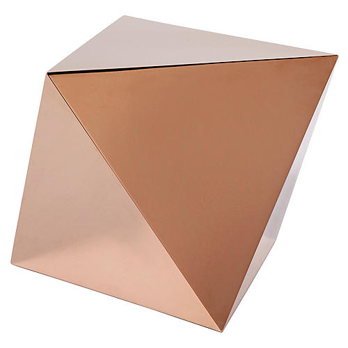 Theorem Side Table, Brass