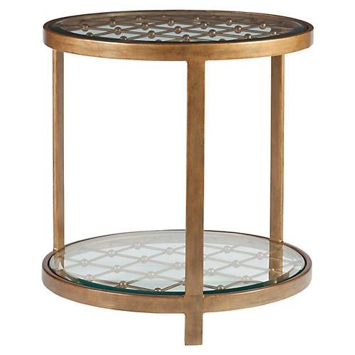 Royere Side Table, Renaissance Gold