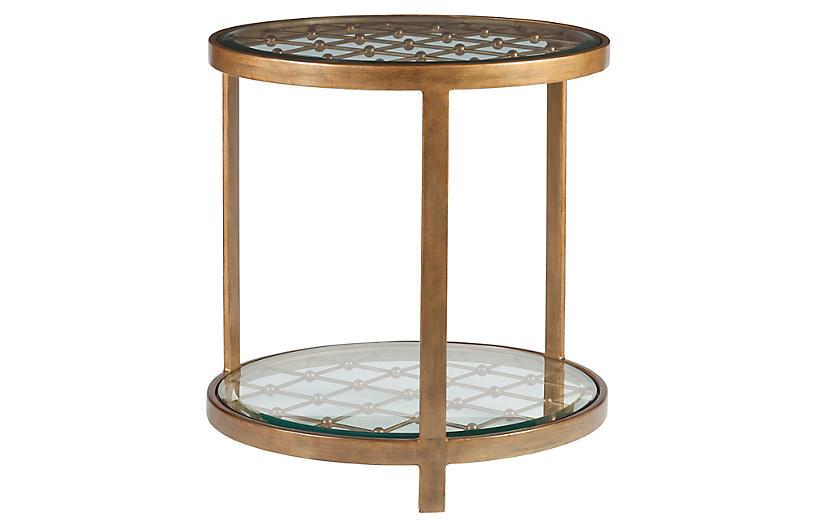 Royere Side Table, Renaissance Gold