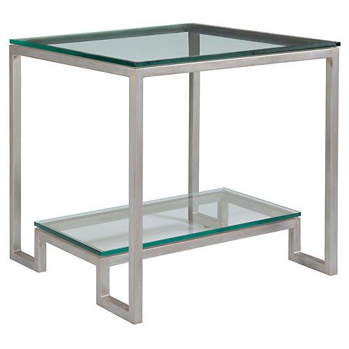 Bonaire Side Table, Argento