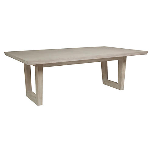 Brio Rectangular Dining Table, Bianco White