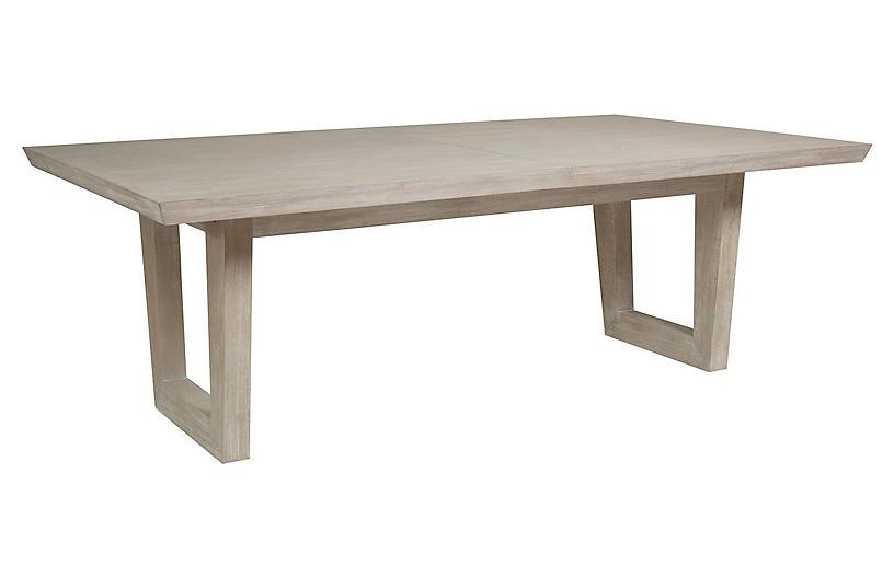 Brio Rectangular Dining Table, Bianco White