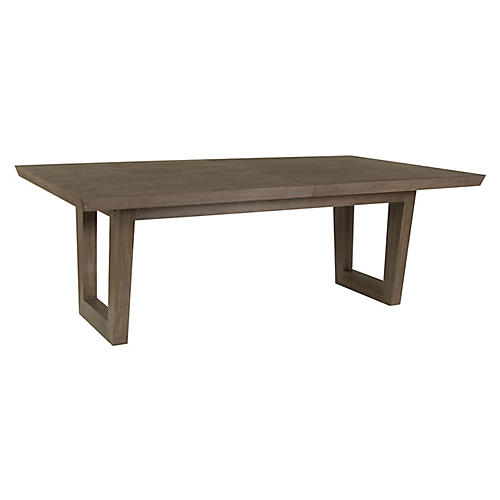 Brio Rectangular Dining Table, Grigio Warm Gray