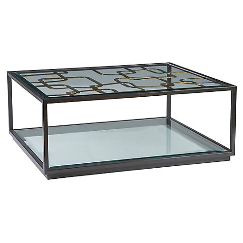 Moxie Coffee Table, Antiqued Black