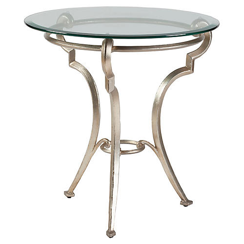 Colette Side Table, Champagne Foil