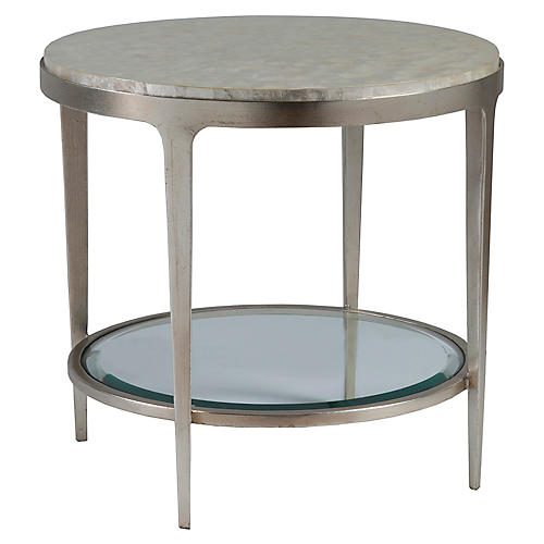Gravitas Tiered Side Table, Champagne