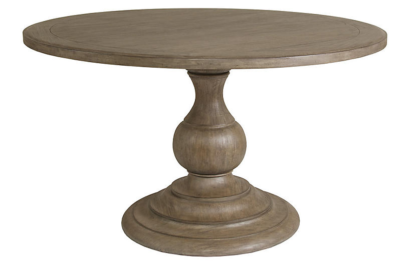 Axiom Round Dining Table, Grigio Warm Gray