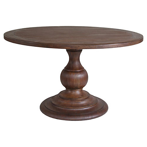 Axiom Round Dining Table, Marrone Brown
