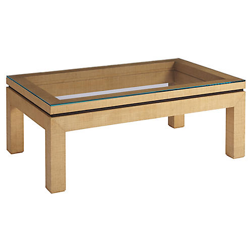 Harbor Raffia Coffee Table, Natural