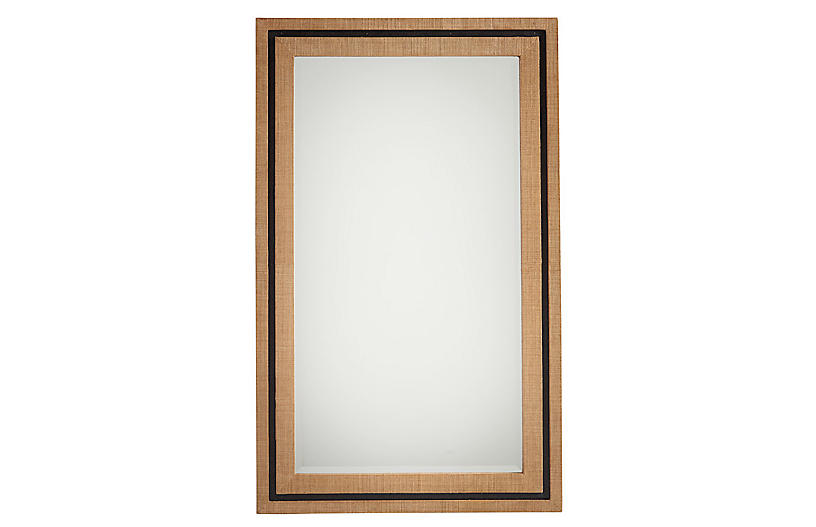 La Costa Rectangular Wall Mirror, Raffia