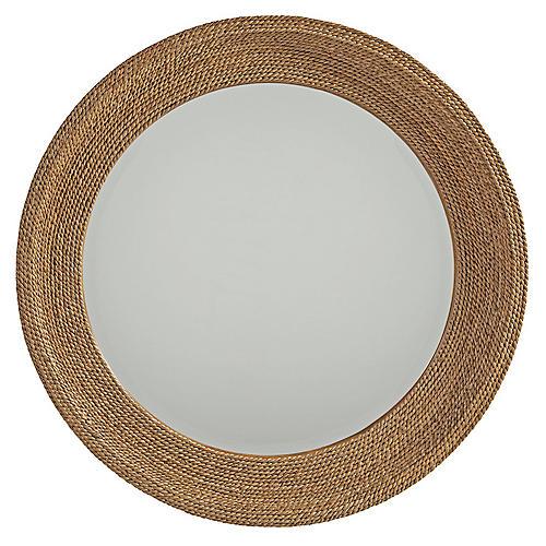 La Jolla Woven Round Wall Mirror, Rope
