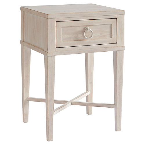 Clay Nightstand, Whitewash