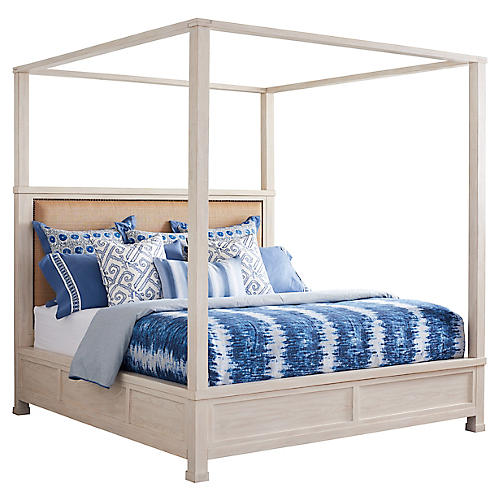 Shorecliff Canopy Bed, Tan