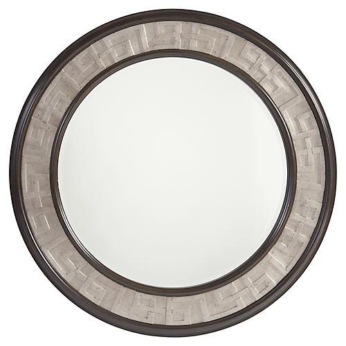 Georgina Round Wall Mirror, Wilshire Brown