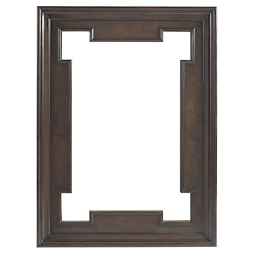 Highwood Rectangular Wall Mirror, Wilshire Brown