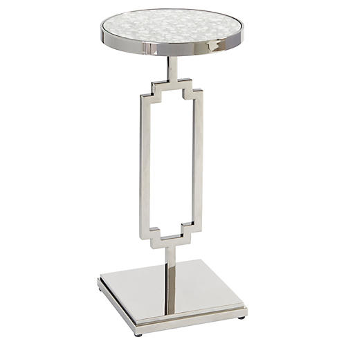 Stonehill Side Table, Nickel