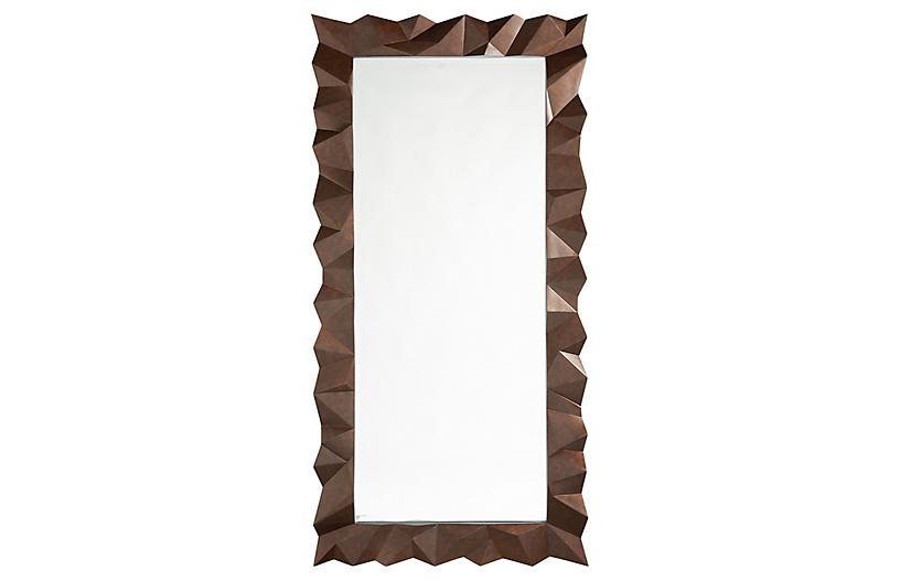 Atherton Floor Mirror, Aged Bronze