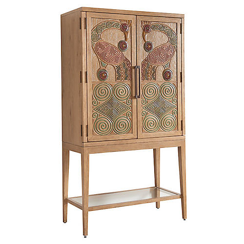 Cameroon Bar Cabinet, Natural