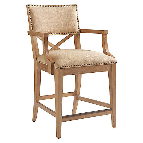 Sutherland Counter Stool, Taupe