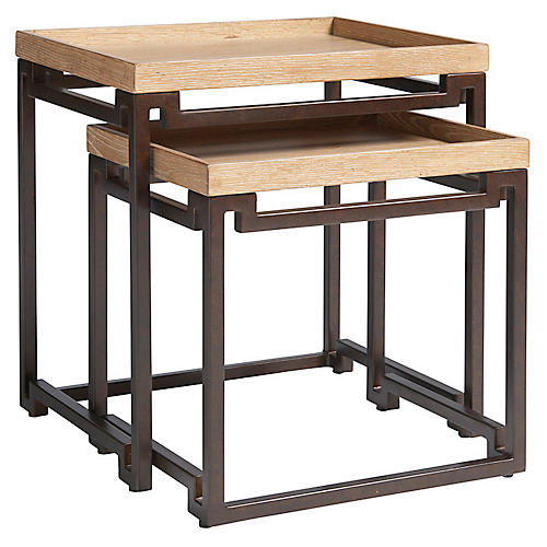 Dolca Vita Nesting Tables, Natural