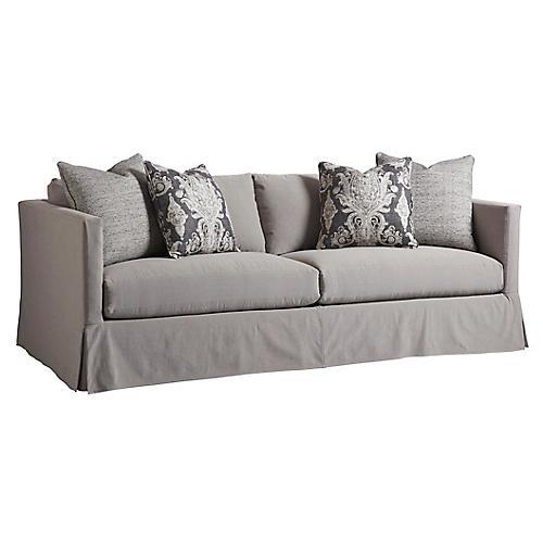 Marina Slipcovered Sofa, Gray