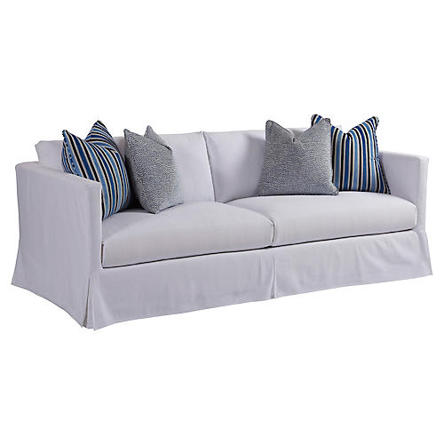 Marina Slipcovered Sofa, White