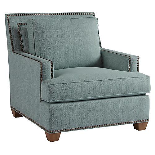 Morgan Club Chair, Teal