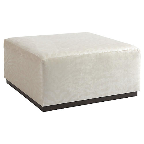 Clayton Cocktail Ottoman, Ivory