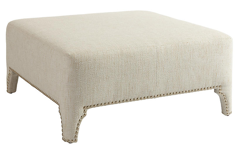 Sheffield Cocktail Ottoman, Natural