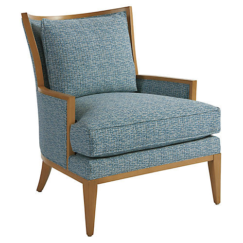 Atwood Accent Chair, Blue