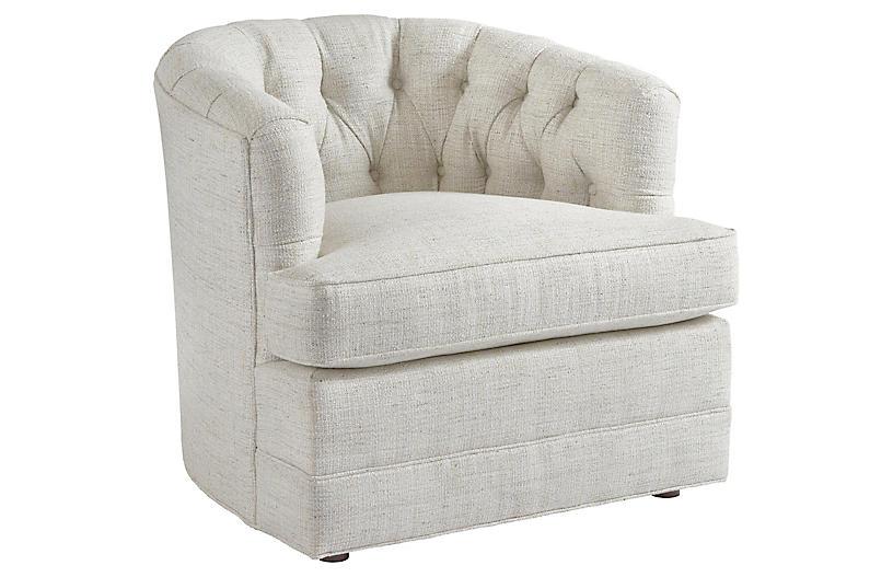 Cliffhaven Club Chair, Talc